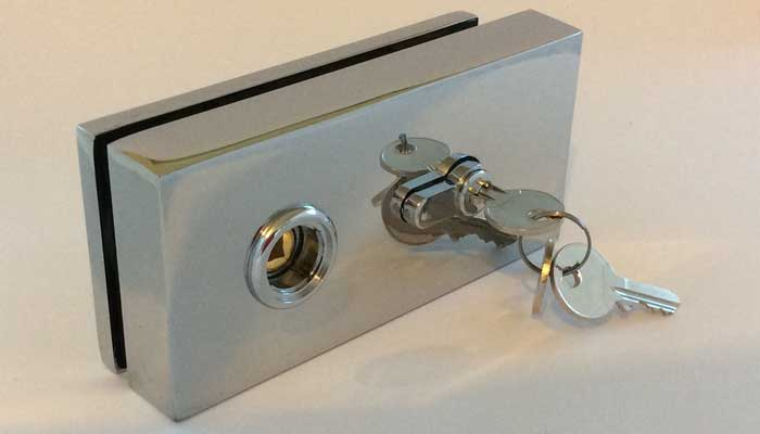 cubo lock for glass doors