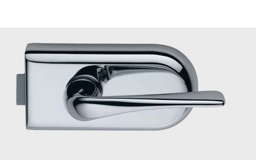 photo shows tosca glass door latch with le mans handle
