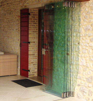 vista fold folding glass door