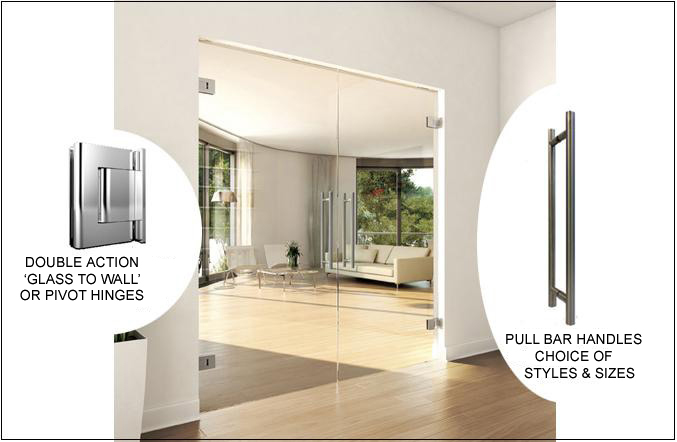 Frameless Glass Double Doors Opening Both Ways Glaswerk