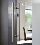 image link to pull bar handles for double action doors