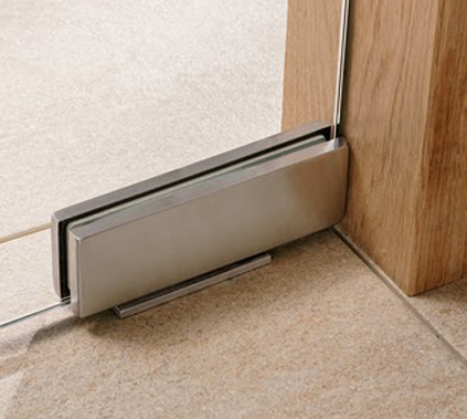 Unica hinge for frameless glass doors